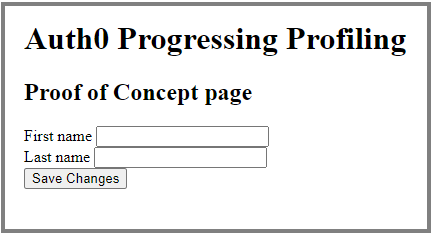 Progressive Profiling Proof-of-Concept form