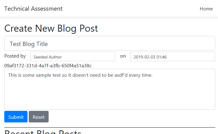Create New Blog Post